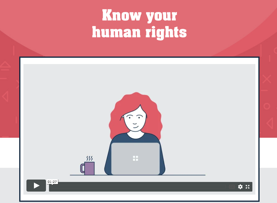 Know your human rights (Toolkit)