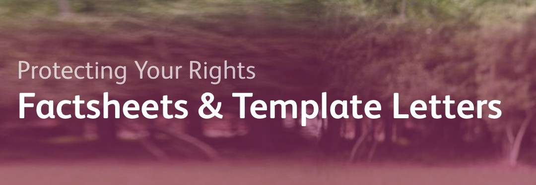 Free Factsheets and Template Letters re: The Care Act and More