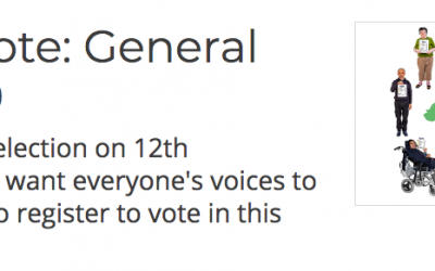 Vote on December 12th. The voices of people with learning disabilities need to be heard!