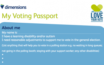 My Voting Passport (Your rights to support when you vote)