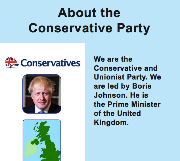 The Conservative Easy Read General Election Manifesto 2019