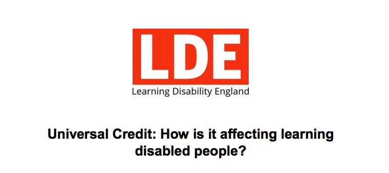 Universal Credit : How is it affecting learning disabled people?