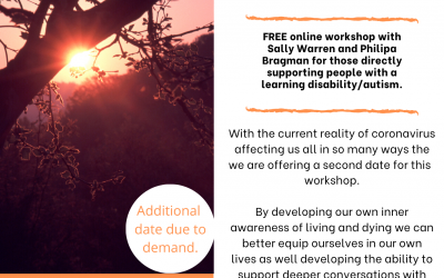Living with Dying, Death and Grief: second date now available for this online workshop