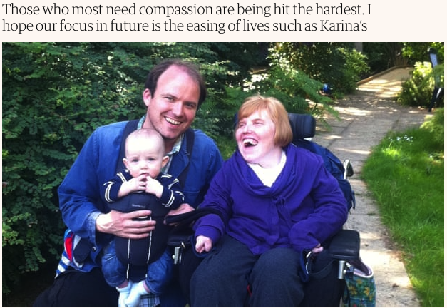 My sister died of coronavirus. She needed care, but her life was not disposable (Rory Kinnear) Guardian May 12th 2020