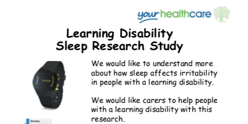 Learning Disability Sleep Research Study (South West London)