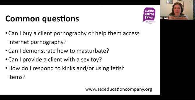 Supported Loving webinar recordings e.g masturbation