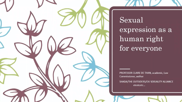 'Supporting the human right to have fun – how sex, relationships, intimacy, loving and the law fit together' (by Supported Loving)