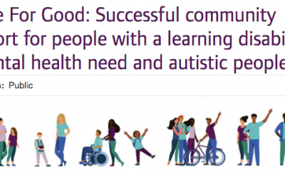 Home For Good: Successful community support for people with a learning disability, a mental health need and autistic people